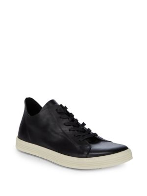 Lace Up Leather Low Top Sneakers by Rick Owens