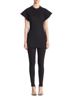 Hybrid Cap Sleeve Sweatshirt by Alexander Wang