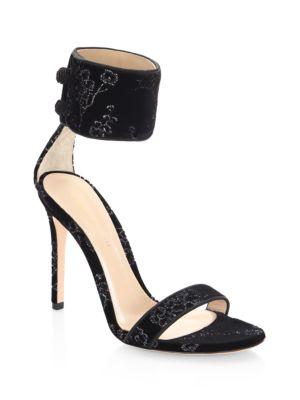 Mekong Velvet Ankle Strap Slingback Sandals by Gianvito Rossi