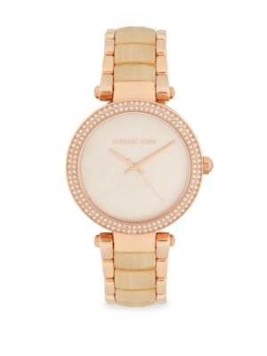 Mother Of Pearl & Stainless Steel Bracelet Watch by Michael Kors