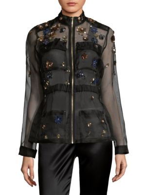 Katya Sheer Silk Jacket by Elie Tahari