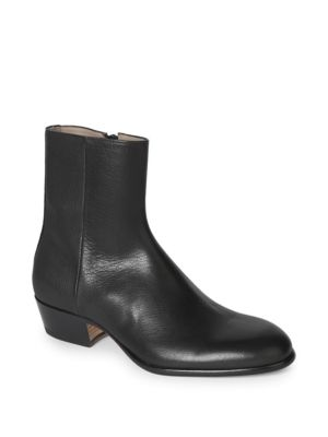 Leather Block Heel Boots by Maison Margiela