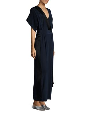 Faux Wrap Silk Jumpsuit by Diane Von Furstenberg