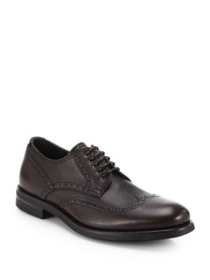 Carson Pebbled Leather Derby Shoes by Aquatalia