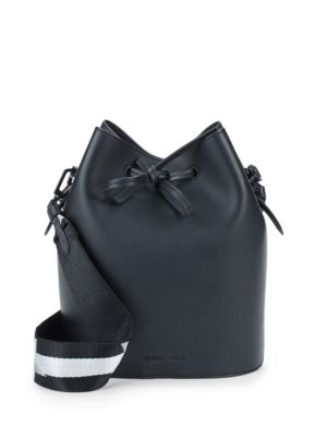 Mini Leather Drawstring Bucket Bag by Kendall + Kylie