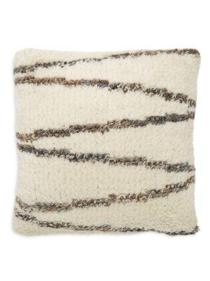 Raj Overseas Fringed Decorative Cotton Pillow