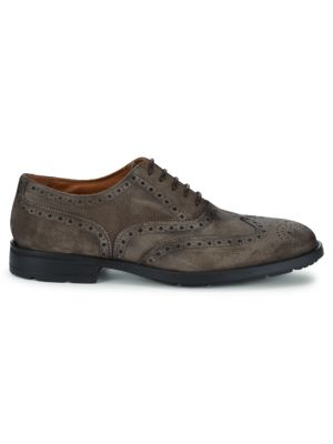 Oliver Suede Wing Tip Oxfords by Bruno Magli