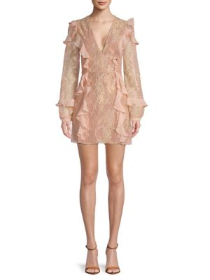 Bumble Ruffle Long Sleeve Mini Dress by For Love & Lemons