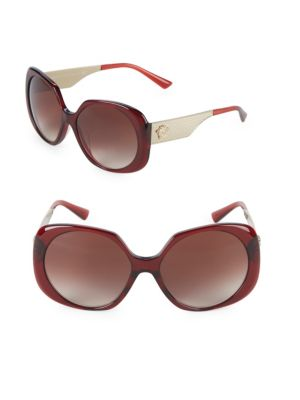 57 Mm Oversized Sunglasses by Versace