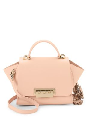 Eartha Leather Butterfly Crossbody Bag by Zac Zac Posen