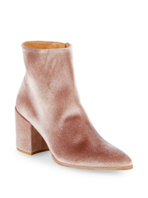 Velvet Point Toe Booties by Stuart Weitzman