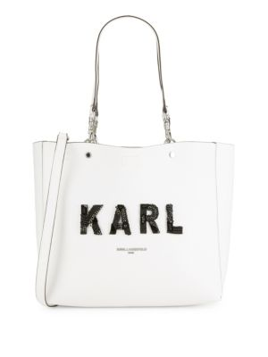 Adelle Logo Tote by Karl Lagerfeld Paris