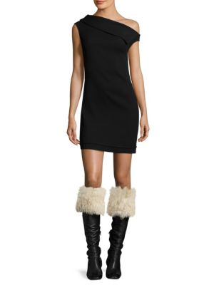 Asymmetric Wool Mini Dress by Helmut Lang