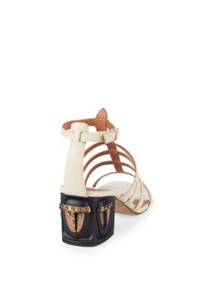 Embellished Leather Sandals by Valentino Garavani