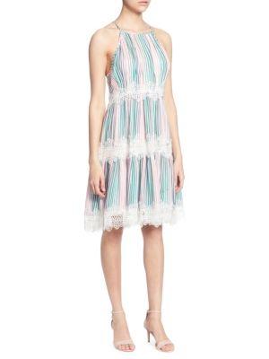 sidonie-lace-trimmed-knee-length-dress by catherine-catherine-malandrino