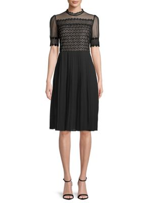 Embroidered Lace Sheer Dress by Endless Rose