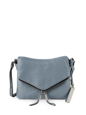 Leather Envelope Front Crossbody Bag by Vince Camuto