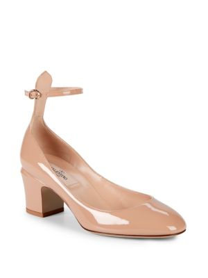 Tango Leather Ankle Strap Pumps by Valentino Garavani