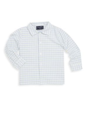 Baby Boy's & Little Boy's Checkered Cotton Collared Shirt by Oscar De La Renta