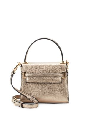 Textured Leather Top Handle Bag by Valentino Garavani