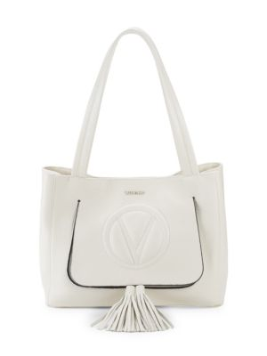 Tasseled Leather Tote by Valentino By Mario Valentino