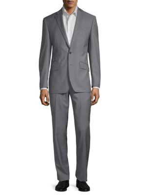 Notch Lapel Wool Suit by Tallia Orange
