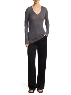 Mixed Rib Knit Cashmere Sweater by Vince