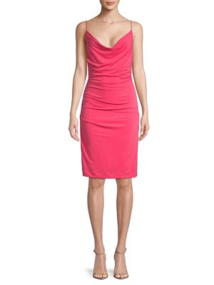 Carly Cowlneck Dress by Nicole Miller