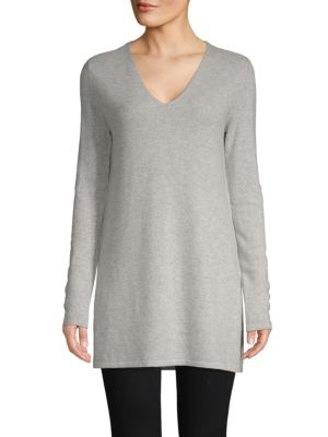 V Neck Cashmere Tunic by Cashmere Saks Fifth Avenue