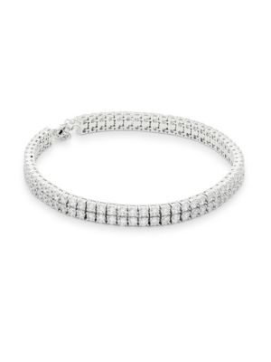 Cubic Zirconia Two Row Anklet by Cz By Kenneth Jay Lane