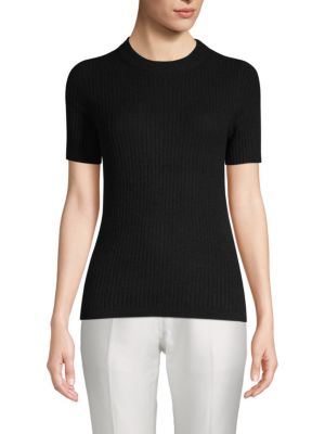 Ribbed Cashmere Tee by Cashmere Saks Fifth Avenue