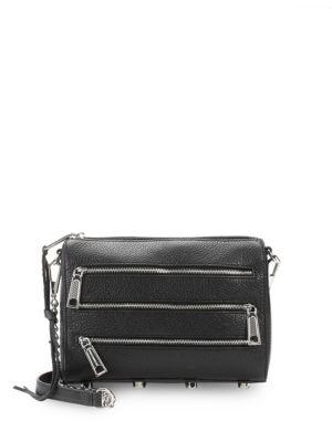Zip Leather Mini Crossbody Bag by Rebecca Minkoff