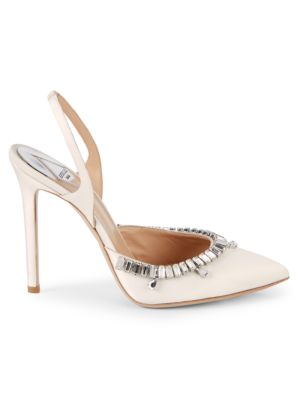 Fragoso Leather Slingback Pumps by Aperlai