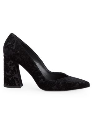 Embroidered Point Toe Pumps by Stuart Weitzman