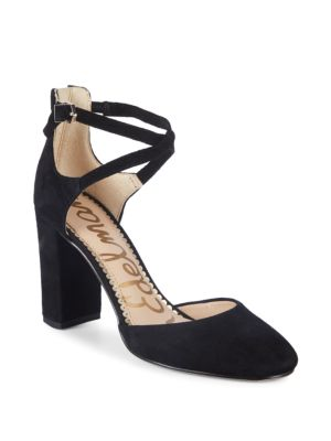 Simmons Ankle Strap Suede Pumps by Sam Edelman