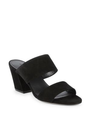 Benetta Block Heel Suede Sandals by Vince