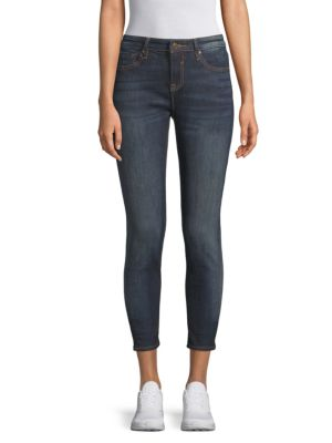 Mid Rise Cropped Jeans by Vigoss