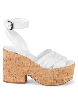 Becca Leather Ankle Strap Sandals by Sigerson Morrison