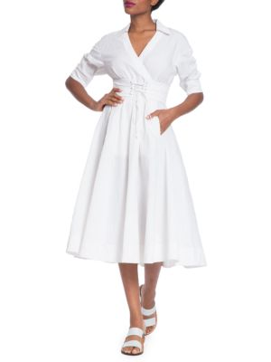 Corset Shirt Dress by Tracy Reese