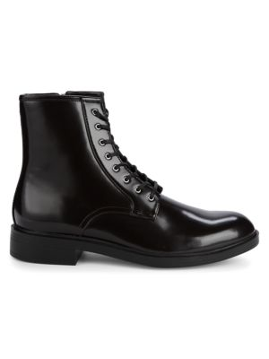Keigan Box Leather Boots by Calvin Klein