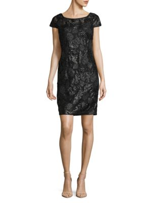 Sequin Cap Sleeve Dress by Calvin Klein