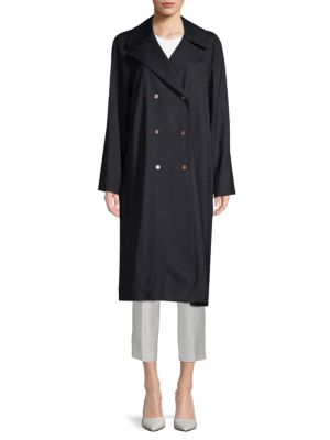 Julia Notch Collar Trench Coat by Lafayette 148 New York