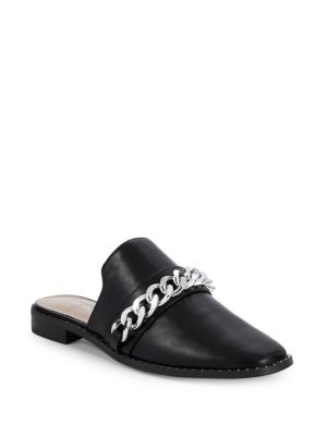 Rosamund Leather Chain Mules by Bcb Generation