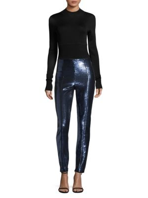 Sequin Cigarette Pants by Diane Von Furstenberg