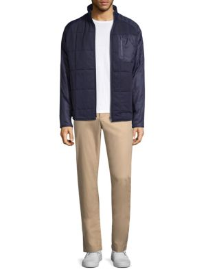 Quilted Zip Up Jacket by Lacoste