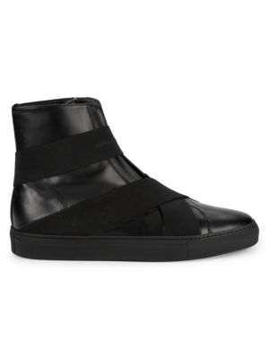 Slip On Leather High Top Sneakers by John Galliano