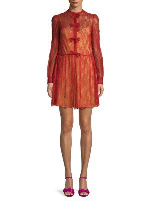 Abiti Donna Silk Lace Dress by Valentino