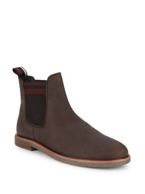 Striped Suede Chelsea Boots by Ben Sherman