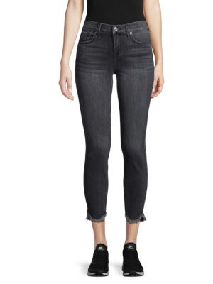 Gwenevere Frayed Ankle Jeans by 7 For All Mankind