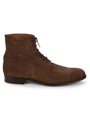 Wingtip Suede Brogue Boots by Saks Fifth Avenue Made In Italy